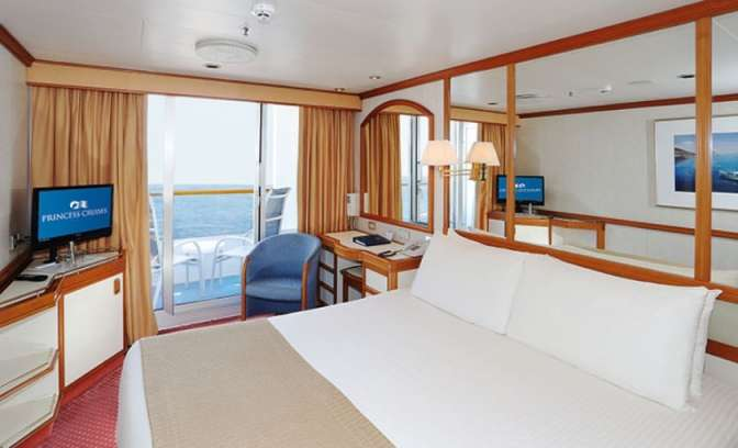 Een balkonhut op de Sea Princess van Princess Cruises