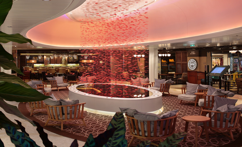 Lounge en bar op de Ovation of the Seas