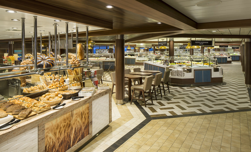 Het Windjammer buffet op de Ovation of the Seas