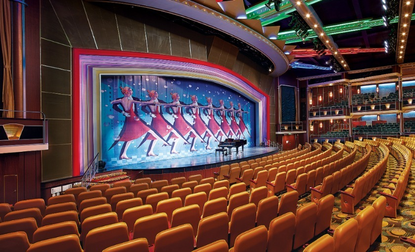 Het theater op de Explorer of the Seas