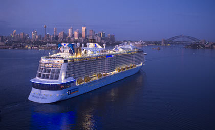 Aankomst Ovation of the Seas in Sydney